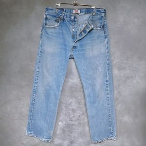 Levi 501 Button Fly Stone Wash Vintage Jeans